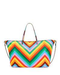 Valentino - Multicolor Medium Nylon Tote Bag - Lyst