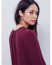 Free People | Purple Moondance Deep V Top | Lyst