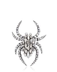 Saint Laurent - Metallic Swarovski Spider Pin - Lyst