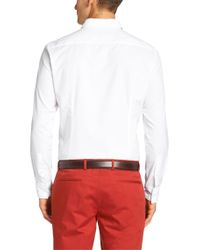 BOSS - White Slim-fit Shirt In Cotton: 'jex' for Men - Lyst