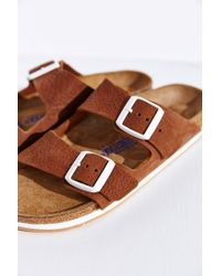 Birkenstock | Brown Arizona Sport Soft Footbed Slide | Lyst