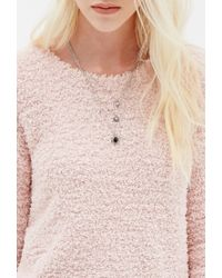 Forever 21 | Pink Plush Eyelash-knit Sweater | Lyst