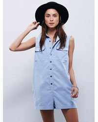 Free People - Blue Sensual Shapeless Romper - Lyst