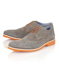 Lotus - Gray Deacon Lace Up Casual Brogues for Men - Lyst