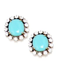 Gerard Yosca | Blue Hard Candy Clip Earring, Turquoise | Lyst