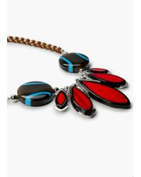 Mango   Metallic Bead Chain Necklace   Lyst