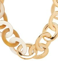 Maiyet - Metallic Horn/gold Metal Link Necklace - Lyst