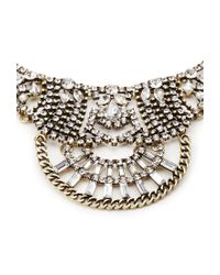 Forever 21 | Black Rhinestone Statement Necklace | Lyst
