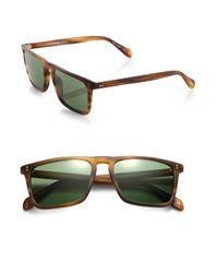 Oliver Peoples   Brown Bernardo Rectangle Sunglasses for Men   Lyst