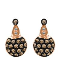 Le Vian   Black 14kt. Rose Gold And Brown Diamond Drop Earrings   Lyst