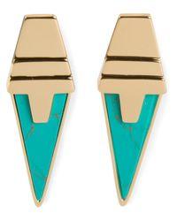 Eddie Borgo - Metallic Inlaid Drop Earrings - Lyst