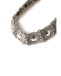 Forever 21 | Metallic Etched Medallion Choker | Lyst