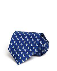 Ferragamo   Blue King Lion Classic Tie for Men   Lyst