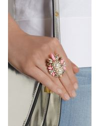 Shourouk | Multicolor Lady Woolit Gold-plated Swarovski Pearl and Crystal Ring | Lyst