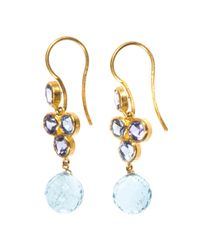 Marie-hélène De Taillac | Blue Sapphire, Aquamarine & Gold Earrings | Lyst