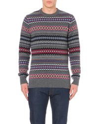 Barbour | Blue Caistown Fair Isle Wool Jumper - For Men for Men | Lyst