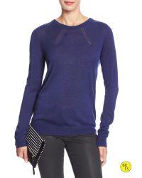 Banana Republic | Blue Factory Crew-neck Sweater | Lyst