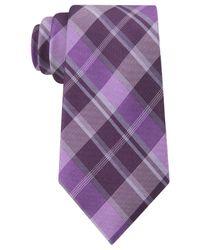 Calvin Klein - Purple Schoolboy Slim Tie for Men - Lyst