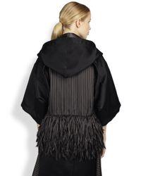 Sacai - Black Openback Cropped Jacket - Lyst