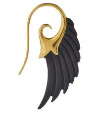 Noor Fares - Black Ebony Wing Earrings - Lyst