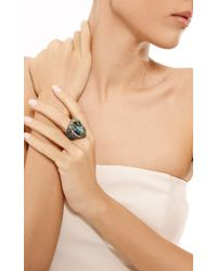 Wendy Yue | Blue Diamond and Tsavorite Ring | Lyst