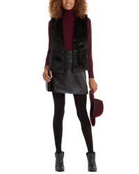 Oasis | Black Short Glam Faux Fur Gilet | Lyst