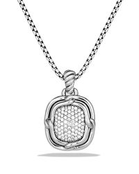 David Yurman - Metallic Labyrinth Medium Pendant With Diamonds - Lyst