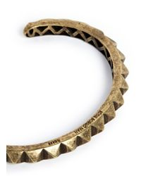 Eddie Borgo | Metallic Pyramid Cuff for Men | Lyst