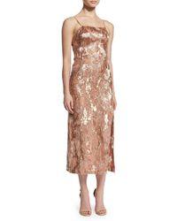 Jason Wu - Pink Beaded Silk Midi Dress - Lyst