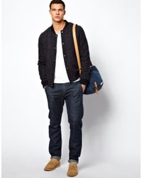ASOS   Blue Slim Chino in Selvedge Fabric for Men   Lyst