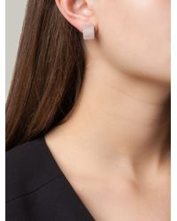 Vita Fede | Metallic Square Pearl Earrings | Lyst