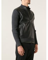 Ferragamo - Black Knitted Cardigan for Men - Lyst