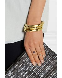 Eddie Borgo | Metallic Circle Prism Gold-plated Bangle | Lyst