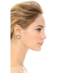 House of Harlow 1960 - Metallic White Sand Sunburst Stud Earrings - Gold - Lyst