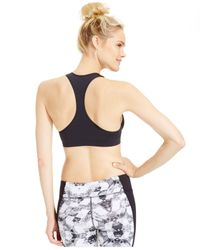Under Armour   Black Seamless Low-impact Plunge Compression Sports Bra   Lyst
