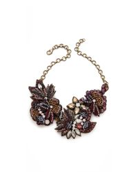 Deepa Gurnani | Metallic Flower Sequin and Stone Necklace | Lyst