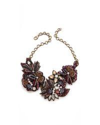 Deepa Gurnani - Metallic Flower Sequin and Stone Necklace - Lyst