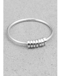 & Other Stories | Metallic Thin Disc Ring | Lyst