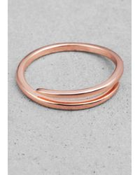 & Other Stories | Pink Delicate Thorn Ring | Lyst