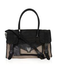 Proenza Schouler - Black Medium Ps1 Travel Leather and Felt Tote - Lyst