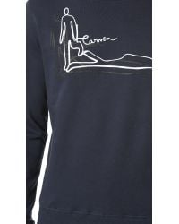 Carven - Blue Long Sleeve Sweatshirt for Men - Lyst