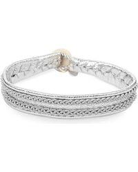 Maria Rudman | Metallic Pewter Woven Bracelet | Lyst