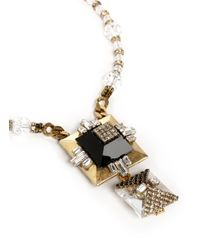 Erickson Beamon | Metallic Velocity Gold-tone Plated Pendant Necklace | Lyst