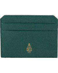 Mark Cross - Green Flat Card Case for Men - Lyst