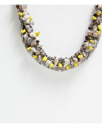 Zara | Gray Colored Bead Necklace | Lyst