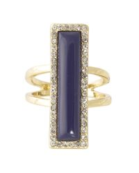 House of Harlow 1960 | Blue Illuminating Rectangle Ring | Lyst