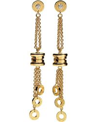BVLGARI | Metallic Bzero1 18ct Yellow-gold Pendant Earrings | Lyst