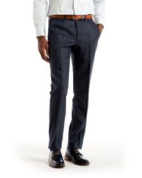 Ted Baker | Blue Edetro Micro Design Wool Suit Trousers for Men | Lyst