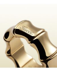 Gucci - Metallic Bamboo Ring - Lyst