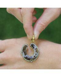 Sylva & Cie - Metallic Opal Horse Shoe Pendant - Lyst